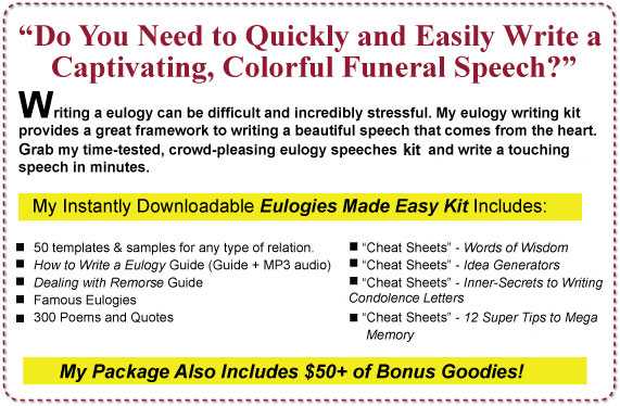 Humorous eulogy examples funny funeral speech examples for Eulogy template for father